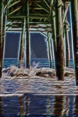 Digital Art - under the pier Electric by Chris Flees