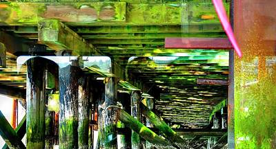 Jerry Sodorff Royalty-Free and Rights-Managed Images - Under The Pier by Jerry Sodorff