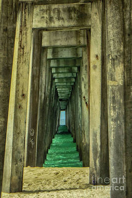 Photograph - Under The Pier by Judy Hall-Folde