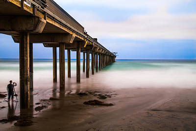 Under The Pier Print by Larry Marshall