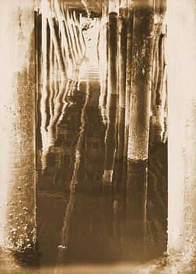 Under The Pier Reflections Art Print by Dan Sproul