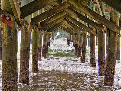 Photograph - Under The Pier by Sandra Anderson