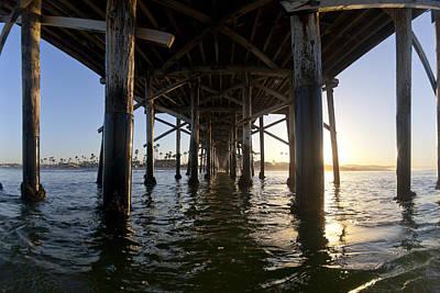 Under The Pier Print by Sean Davey
