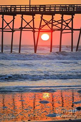 Photograph - Under The Pier - Sunset by Shelia Kempf