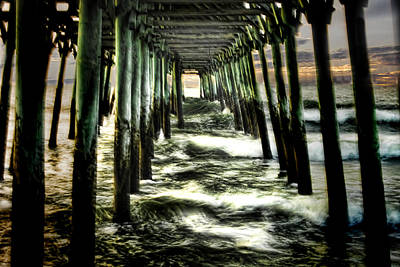 Photograph - Under The Pier by Terry Shoemaker
