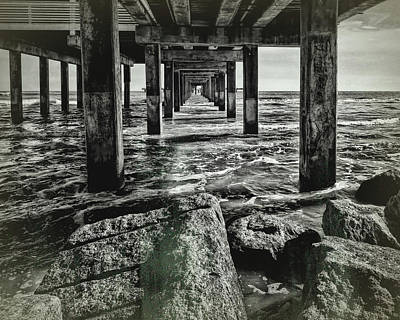 Photograph - Under The Pier Vintage by Judy Vincent