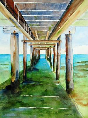 Painting - Under The Playa Paraiso Pier by Carlin Blahnik CarlinArtWatercolor