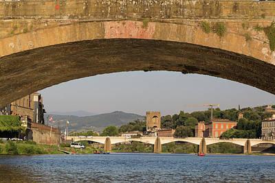 Photograph - Under The Ponte Santa Trinita by Patricia Schaefer