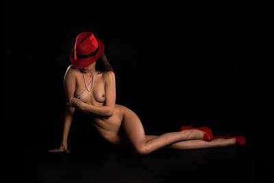 Digital Art - Under The Red Hat Series-b1 by Kevin McClish