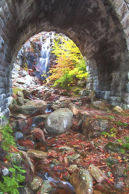 Maine Roads Digital Art - under the Road II by Jon Glaser