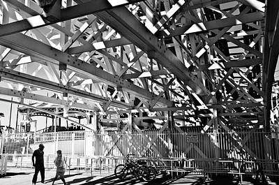 Photograph - Under The Roller Coaster by Larry Butterworth