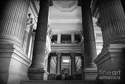 Photograph - Under The Scaffolding Of The Palace Of Justice - Brussels by RicardMN Photography