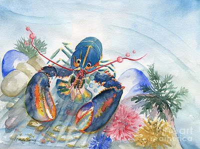 Painting - Under The Sea 2 - Lobster by Melly Terpening