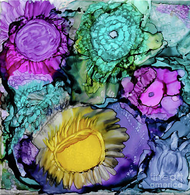 Painting - Under The Sea - Alcohol Ink Art by Kerri Farley