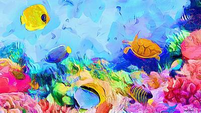 Painting - Under The Sea - Aquarium by Wayne Pascall