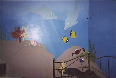 Painting - Under The Sea Bedroom I by Anna Villarreal Garbis