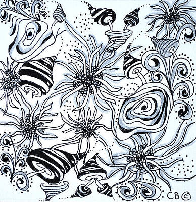 Drawing - Under The Sea by Carole Brecht