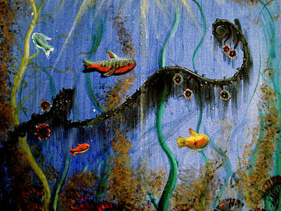 Carrie Glenn Painting - Under The Sea by Carrie Jackson