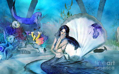 Under The Sea Daydreams Art Print by Methune Hively