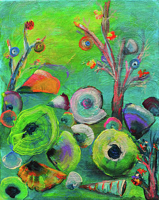 Painting - under the sea  - Orig painting for sale by Haleh Mahbod