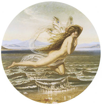 Under The Ocean Painting - Under The Sea by Joseph Noel Paton