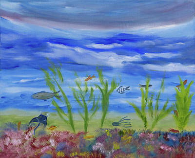 Painting - Above The Corals by Meryl Goudey