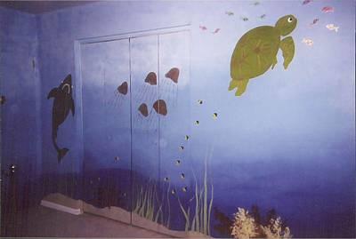 Painting - Under The Sea Mural II by Anna Villarreal Garbis