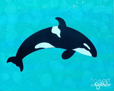 Painting - Under The Sea Orca by JoNeL Art