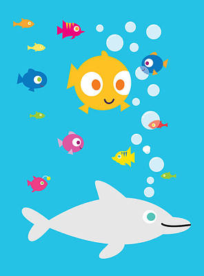 Under The Sea Art Print by Pbs Kids
