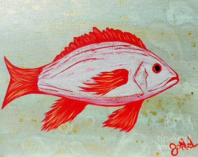 Painting - Under The Sea Red Snapper by JoNeL Art