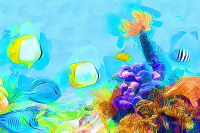 Under The Sea - Coral World Art Print by Wayne Pascall