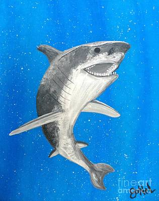 Painting - Under The Sea Shark by JoNeL Art
