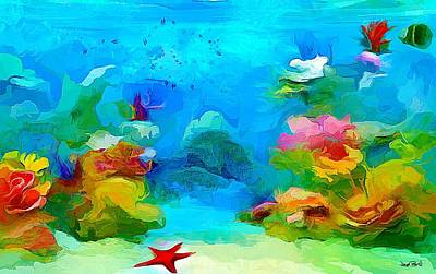 Painting - Under The Sea - Starfish by Wayne Pascall