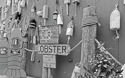 Crab Photograph - Under The Ship's Wheel Bw by Betsy Knapp