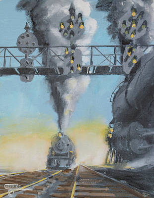 Art Print featuring the painting Under The Signals  by Christopher Jenkins