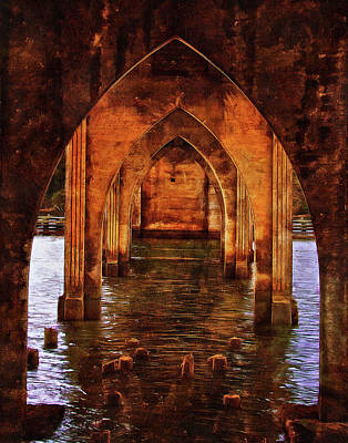 Art Print featuring the photograph Under The Siuslaw River Bridge by Thom Zehrfeld