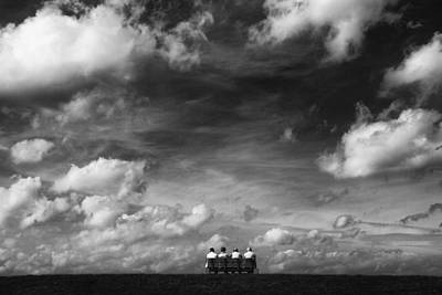 Benches Photograph - Under The Sky by Hans-wolfgang Hawerkamp