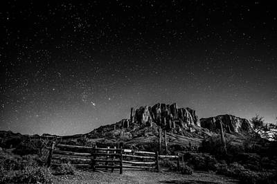 Photograph - Under The Stars Bw by Michael Damiani