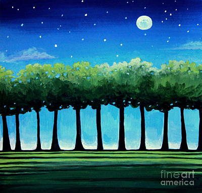 Painting - Under The Stars by Elizabeth Robinette Tyndall