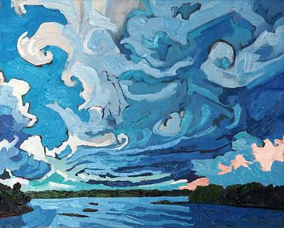 Storm Clouds Painting - Under The Storm by Phil Chadwick