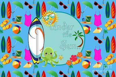 Under The Sun Print by Naviblue