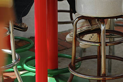 Foot Stool Photograph - Under The Table by Jean Booth