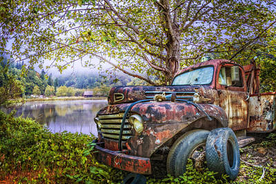 Gold Ford Photograph - Under The Trees by Debra and Dave Vanderlaan