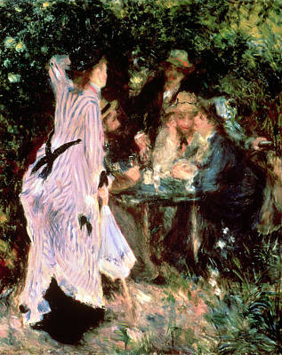 Under The Trees Of The Moulin De La Galette Print by Pierre Auguste Renoir