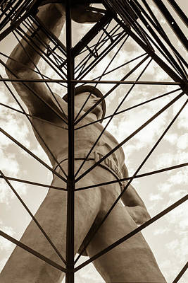 Photograph - Under The Tulsa Driller - Sepia Edition by Gregory Ballos