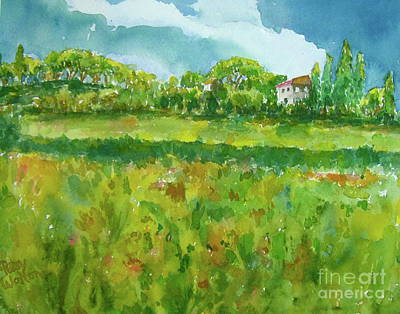 Tuscan Hills Painting - Under The Tuscan Sun by Patsy Walton
