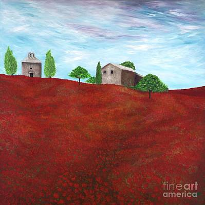Tuscan Hills Painting - Under The Tuscan Sun by Rochelle Lang