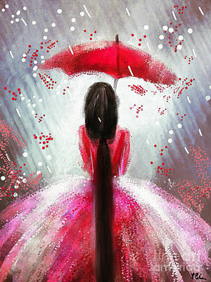 Painting - Under The Umbrella by Tina LeCour