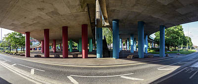 Photograph - Under The Viaduct A Panoramic Urban View by Jacek Wojnarowski