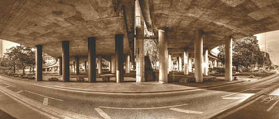 Photograph - Under The Viaduct B Panoramic Urban View by Jacek Wojnarowski
